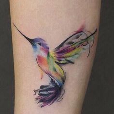 tattoos for women butterfly Hummingbird Flower Tattoos, Hummingbird Tattoo Watercolor, Watercolour Tattoos, Great Tattoos, Beautiful Tattoos, Small Tattoos, Time Tattoos, Body Art Tattoos, Tattoo Ink