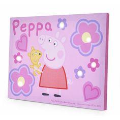 Idea Nuova Nickelodeon Peppa Pig LED Canvas Art