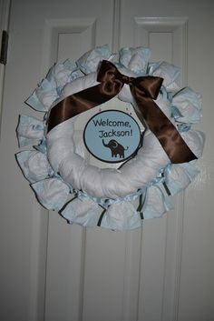 """welcome baby -  Blue and Brown Elephants / Baby Shower/Sip & See """"Blue and Brown Elephants"""" 