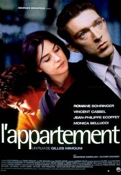 L' appartement (The Apartment): An enigmatic French thriller that dazzles you with its Hitchcock-like lines and complexity. Discover more French movies by following Talk in French on Pinterest.