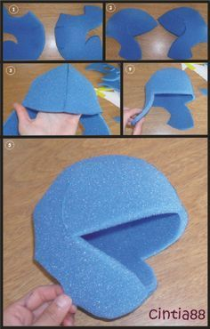 Foam Muppet creation.  gives you some great ideas but the post is in spanish.  Great pictures to see how to put the puppet together.