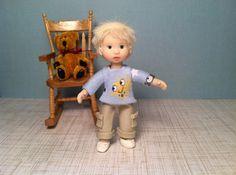 Ooak POSEABLE Little BOY Dollhouse Child 1:12 scale Miniature Mini Doll Baby