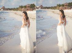 Trash al amanecer en la Riviera Maya