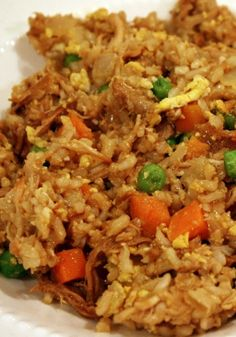 This original Skinny Mom, Skinny Chicken Friend Rice recipe!/Awesome and easy. I used frozen peas and leftover brown rice. Will make again.