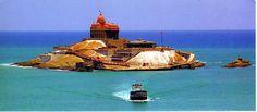 Vivekananda Rock Memorial (Kanyakumari, India), the southern most tip of India where the Arabian Sea, Indian Ocean and the Bay of Bengal meet.