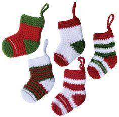 Botitas o medias tejidas en crochet