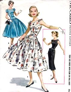 1950s Teen Size Dress This would work if you wanted to make Audrey Hepburn's Funny Face wedding gown