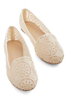 Reverie Step You Take Flat. Every step in these ivory flats feels as though youre floating! #cream #modcloth