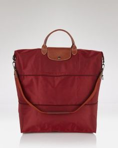 LONGCHAMP Le Pliage Expandable Travel Duffel Weekender. #longchamp #bags #travel bags #nylon #weekend #canvas #