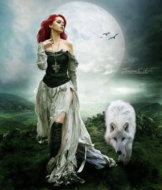 Redhead & White Wolf
