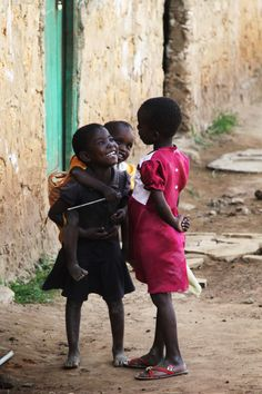 Kenyan kids..no matter what they face or how they live, they're always so joyful!