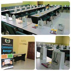 Todo listo para el inicio del #Diplomado Regional de #CommunityManager #UTH #Honduras