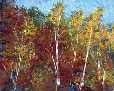 Fall colors in Door County painting workshop.
