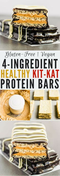 These healthy & homemade kit kat protein bars are easy to make and require only 4 simple ingredients. These extra crunchy, no-bake protein treats are the perfect post-workout snack. They are entirely gluten-free, paleo, vegan, dairy-free, egg-free, flourless and nut-free.   onecleverchef.com