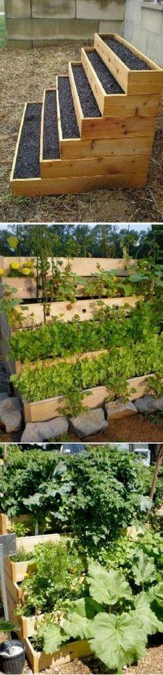 Vertical Vegetable and Herbs Garden #springvegetablegardening