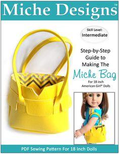 Miche Bag 18 inch Doll Accessories PDF Pattern Download | Pixie Faire