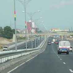 Highway in Accra, Ghana, I have never seen it this empty!!!!!