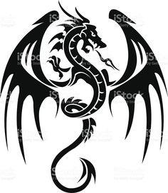 Tatouage de Dragon stock vecteur libres de droits libre de droits
