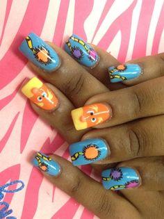 Lorax nail art! Love this!
