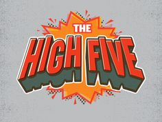 The High Five Logo Animation by Fraser Davidson Typography Logo, Graphic Design Typography, Logo Design, Identity Design, Layout Design, Design Ideas, Kinetic Type, Logo Anime, Text Animation