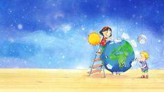 coverillustratie Willewete De Zon, Aarde en Maan