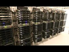 Actual View of Pinterest Servers!  Malfunction around 0:18...