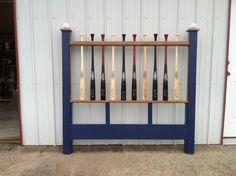 Headboard Made From Baseball Bats