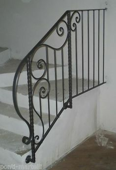 Wrought Iron RAILING. Personalised Executions. 017 Staircase Decor, Custom Railing, Handicap Friendly, Porch Railing, House Styles, Stair Handrail, Iron Railing, Home Decor, Wrought Iron