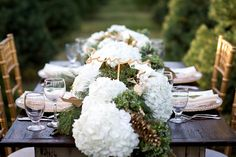 christmas centrepieces wedding shoot - Google Search