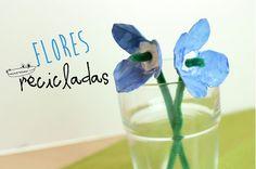 #Floresrecicladas con hueveras..  Una de las #ManualidadesInfantiles favorita de los peques!