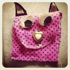 Craft kitty purse
