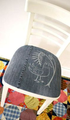 chair of jeans