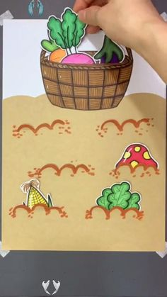 Vegetable Themed Papercraft for Toddlers Looking for fun age-appropriate crafts for your little one?  Today, let's talk farm theme ideas!<br> What kid doesn't love farms? This papercraft is sure to get the children's imagination going.
