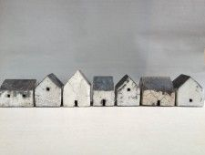 Gallery Fifty Five Clay Houses, Ceramic Houses, Miniature Houses, Wooden Houses, Ceramic Pottery, Ceramic Art, Small Wooden House, Pottery Houses, Paperclay