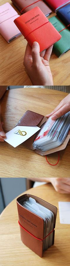 Mini Card Book by SlimPocket on Etsy