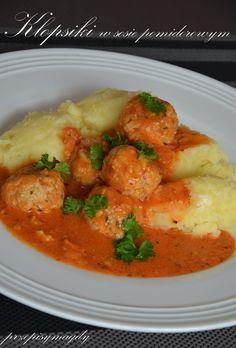 Przepisy Magdy: Klopsiki w sosie pomidorowym
