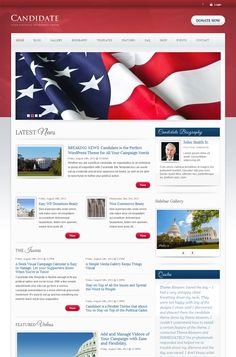 Candidate – Political WordPress Theme