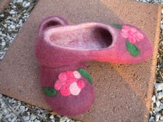Wet Felted slippers for Christmas Gifts