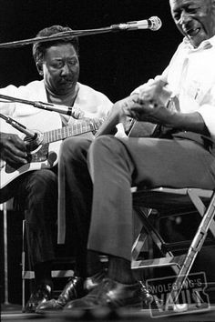Muddy Waters and Son House at the Newport Folk Festival, 1969. photographed by Joe Sia
