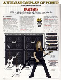 Roope Latvala (Children of Bodom) Guitar Rig - 2009 Guitar World Amp Settings, Children Of Bodom, Guitar Books, Learn Something New Everyday, Guitar Rig, Never Stop Learning, Man Child, Rigs, Rock And Roll