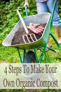 4 Steps to make your own organic compost.  I REALLY want to start doing this!