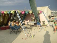 How To Alter a Store Bought Poly-Vinyl Tarp - ePlaya Burning Man, Savannah Chat, Times