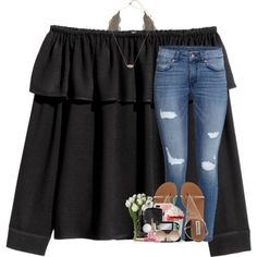 A fashion look from March 2017 featuring H&M tops, H&M jeans and Charlotte Russe bras. Browse and shop related looks.