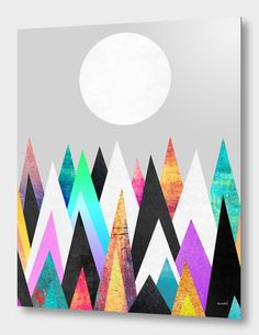 """""""Colorful Peaks 2"""", Numbered Edition Aluminum Print by Elisabeth Fredriksson - From $69.00 - Curioos"""