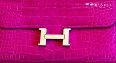 Hermes clutch. And in my favorite color...