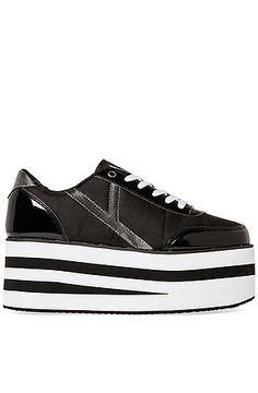 The Krazii Shoe in Black and Grey by Y.R.U #fashion #Roposo