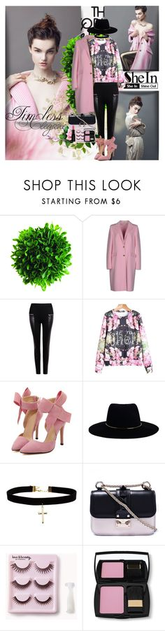 """""""Floral Print Sweatshirt by SheIn"""" by shinee-pearly ❤ liked on Polyvore featuring Emilio Pucci, Zimmermann, ASOS, Valentino, Forever 21, Lancôme and Smashbox"""