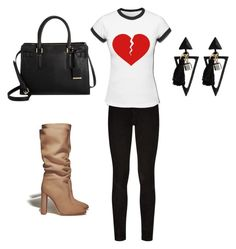 """heart broken"" by bakershepardjakhiya on Polyvore featuring Paige Denim and Gianvito Rossi"