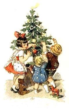 fete noel vintage gifs images - Page 42 Victorian Christmas, Vintage Christmas Cards, Retro Christmas, Christmas Images, Christmas Art, Christmas Greetings, Vintage Cards, White Christmas, Christmas Decorations
