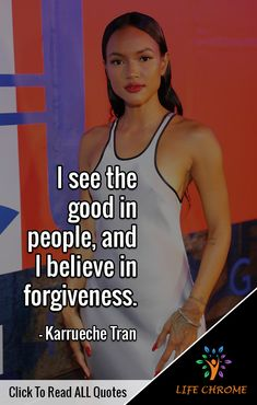 """""""I see the good in people, and I believe in forgiveness. Quotes By Famous People, All Quotes, People Quotes, Life Quotes, Karrueche Tran, Forgiveness Quotes, Motivationalquotes, Believe, Good Things"""